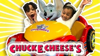 CHUCK E. CHEESE'S Pretend Play! Family Fun Review for Kids Indoor Play Area Children Activities Toys