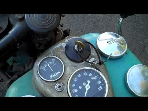1941 Indian Sport Scout Motorcycle Cold Start
