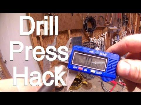 Drill press hack.  No metal lathe?  No problem!  FarmCraft101