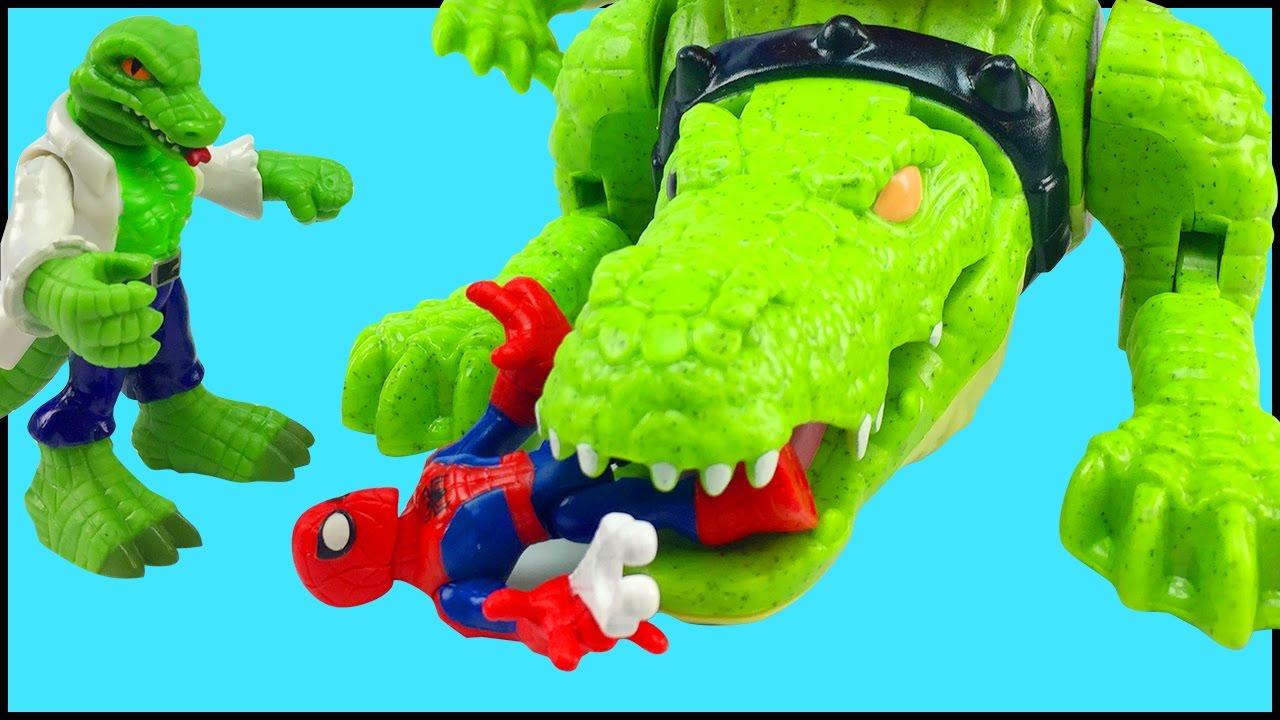 Playskool Heroes Marvel Super Hero Adventures Lizard Spider man Enemy