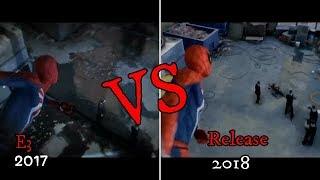 Spiderman PS4 Graphics Comparison E3 Vs Release