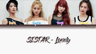 SISTAR (씨스타) – LONELY Lyrics (Han|Rom|Eng|Color Coded)