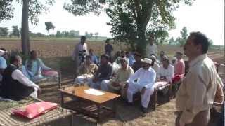 Growing Wheat Crops Behind the seen PTV 25 Oct 2011 Manga Mandi Pakistan