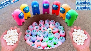 Coca Cola, Different Fanta, Mirinda, Pepsi, Sprite and Mentos in the Giant eyeball Underground Hole