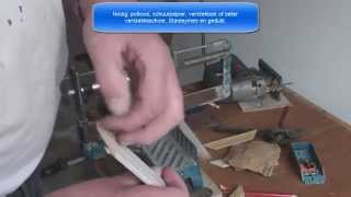 Platte plint leggen bij laminaat vloeren. thumbnail