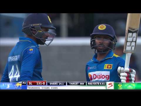 South Africa vs Sri Lanka - 4th ODI - Niroshan Dickwella 50