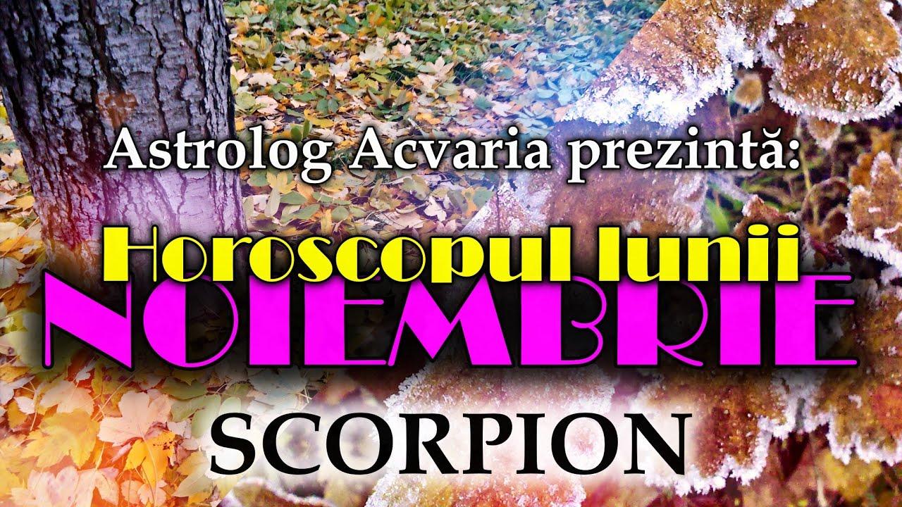 Esti nativ SCORPION sau ai ascendentul in SCORPION? * Horoscopul lunii NOIEMBRIE * Grija la cuplu!