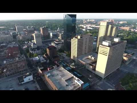 Lexington Ky Downtown Early Morning Drone Flight