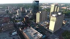 Lexington Ky Downtown Early Morning Drone Flight