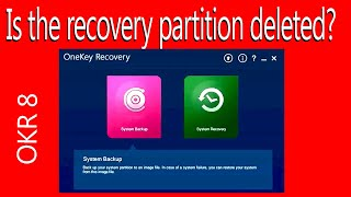 👉Lenovo laptop Create Recovery Partition Original ,if deleted okr8