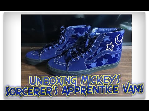 Unboxing Mickey s Sorcerer s Apprentice Vans - YouTube d324567b377