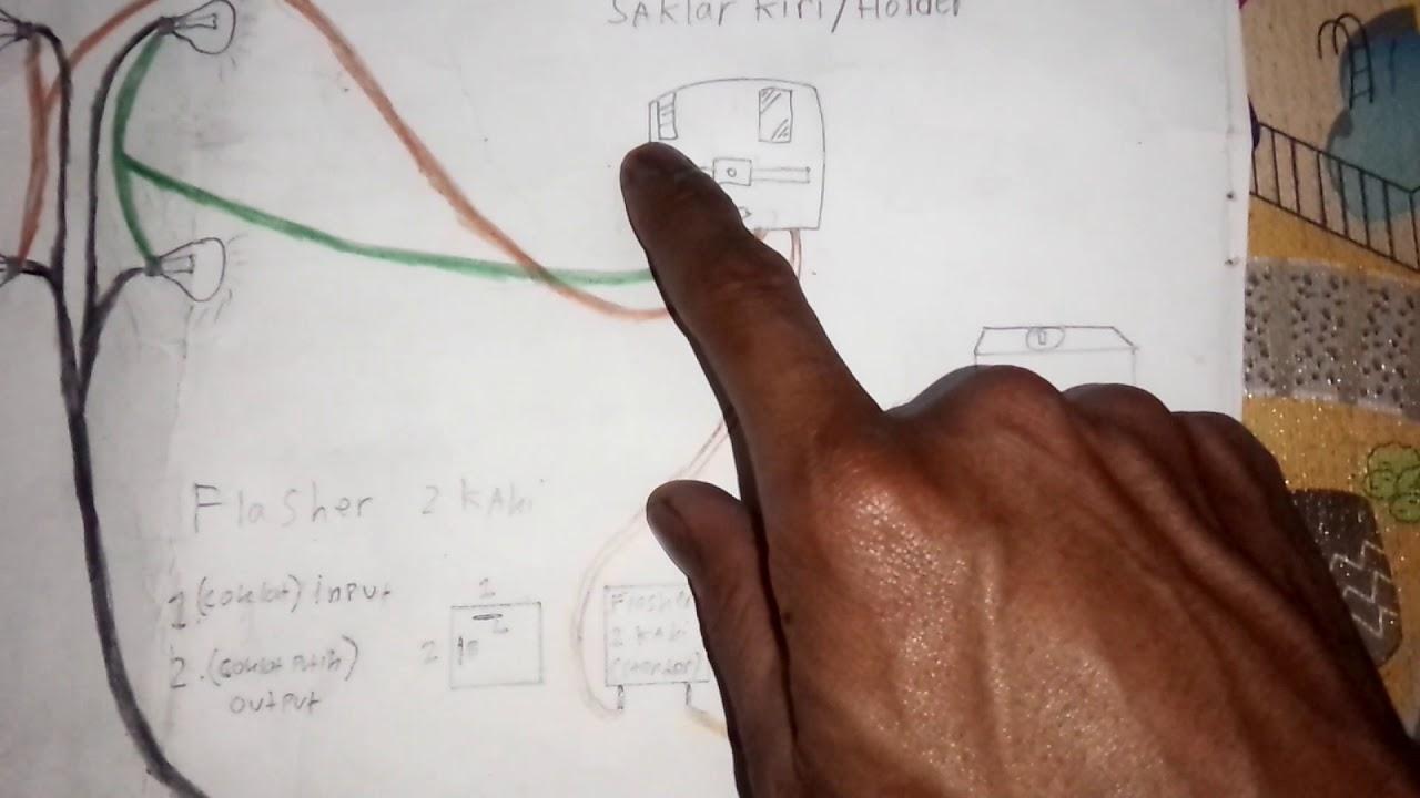 Skema Lampu Sein Sen Riting Rihting Untuk Yamaha Rx King Dan Wiring Diagram Lainnya Motor