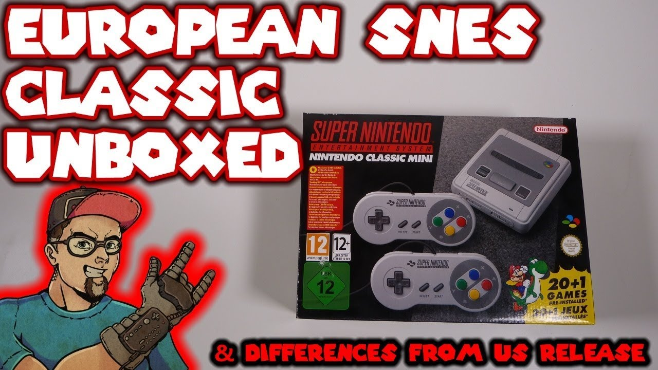 European SNES Classic Unboxed Plus Concerns & Differences From The