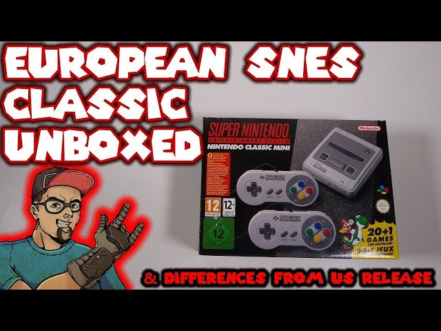 European SNES Classic Unboxed Plus Concerns & Differences From The US Version