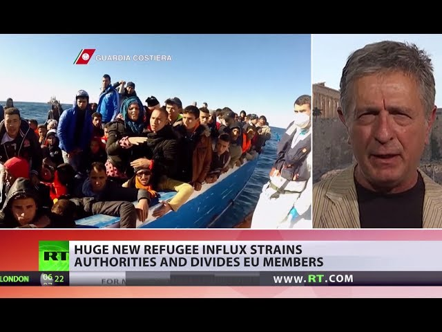 Huge new refugee & migrant influx strains authorities & divides EU members