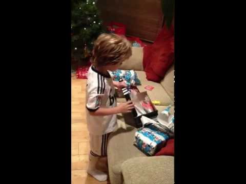 ORIGINAL - Irish boy gets Lionel Messi Adidas F50 soccer boots for Christmas