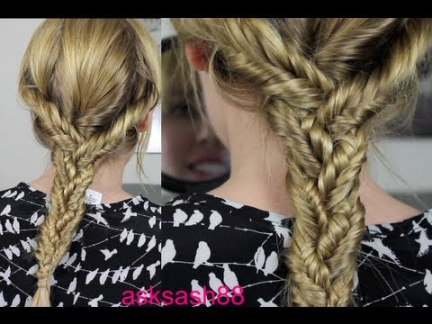 Triple Fishtail Braid Easy Everyday Hairstyles For Long