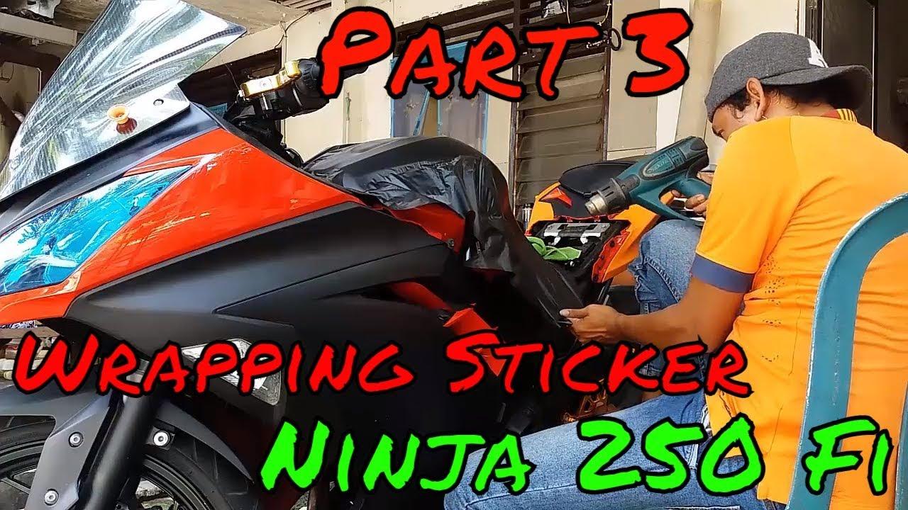 wrapping sticker ninja 250 fi - part 3