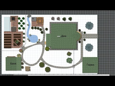 3Д дизайн участка 10 соток