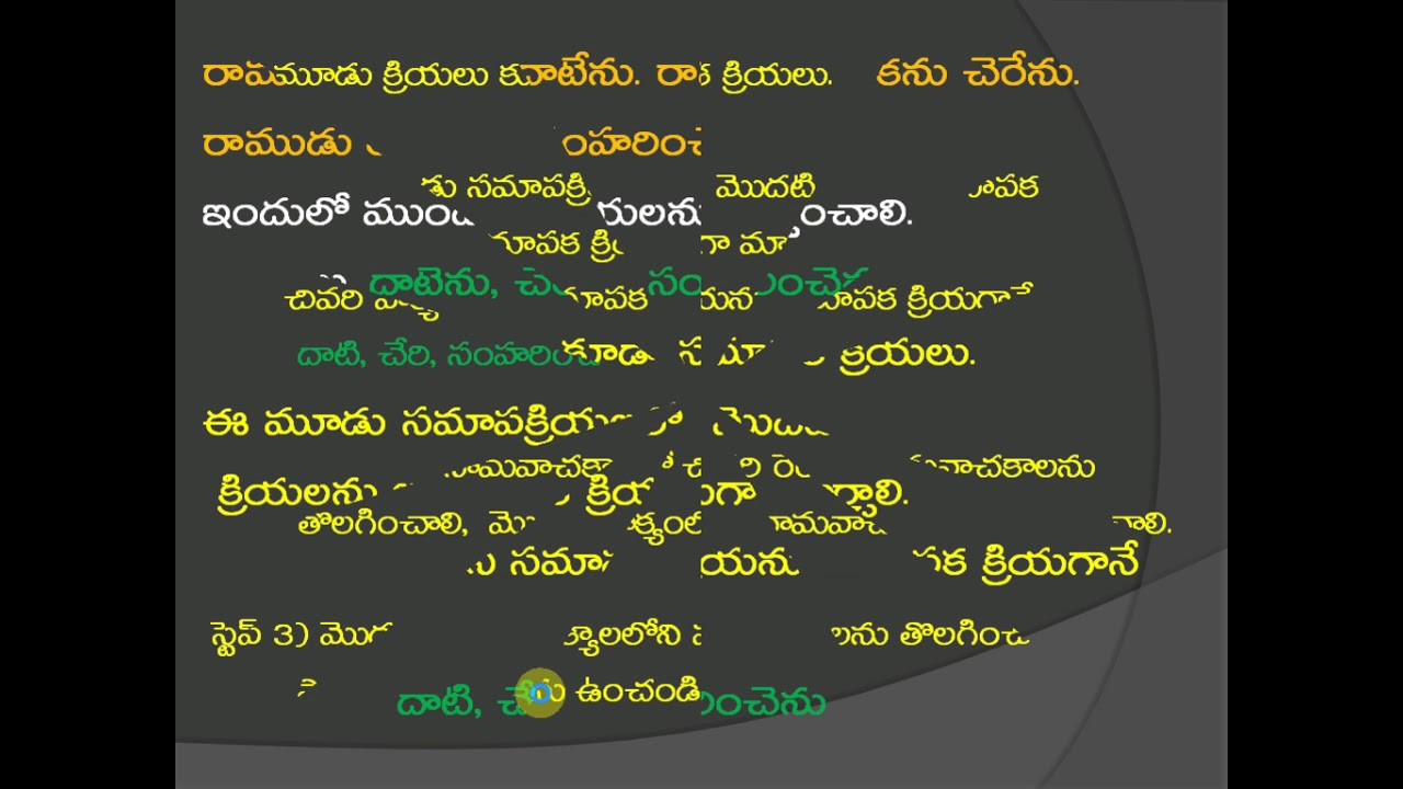 Teachers Planet తెలుగు సామాన్య, సంశ్లిష్ట, సం యుక్త,వాక్యాలు