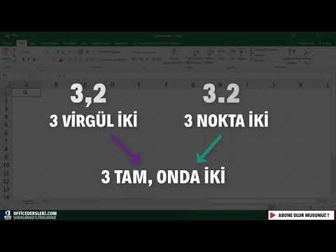 Nokta ve Taksim ( Slash ) işaretlerinin tarihe dönüşmesi | Microsoft Excel
