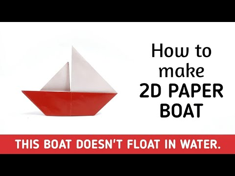 How to make origami paper boat (2D) - 2 | Origami / Paper Folding Craft Videos & Tutorials.