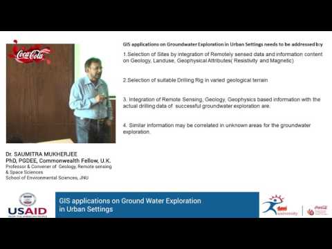 GIS applications on Ground Water Exploration in Urban Settings