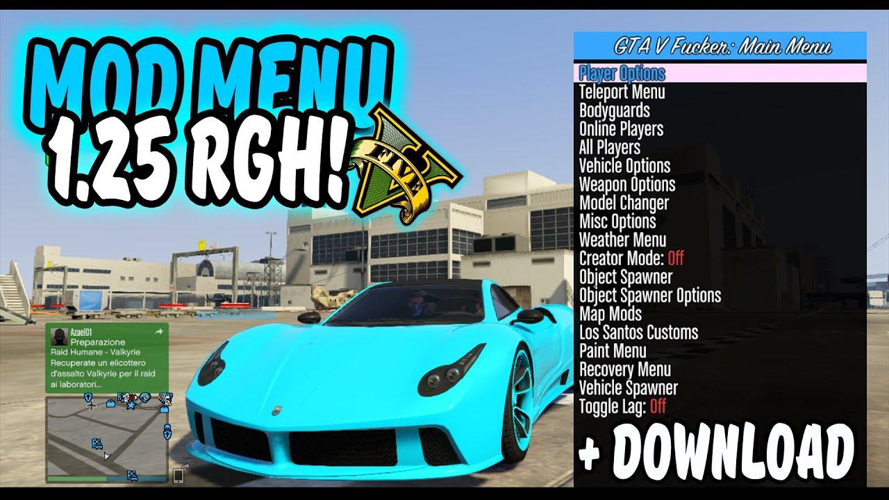 GTA 5 Online - MOD MENU F*CKER! 1 27 TU26 RGH/JTAG + Download!
