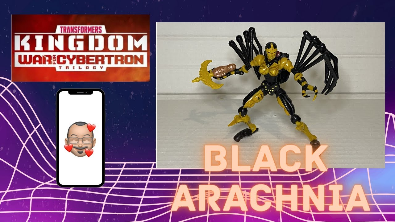 Transformers Kingdom Blackarachnia Review By Aikavari