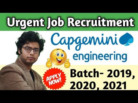Capgemini Engineering hiring again 2019 | 2020 | 2021 Batch | Offcampus Recruitment | Full Details