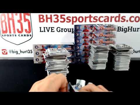 2018 Bowman Baseball Hobby | 12 Box Case Break Random Teams #3 23 Total Spots