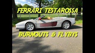 Ferrari Testarossa Burnouts and Flybys