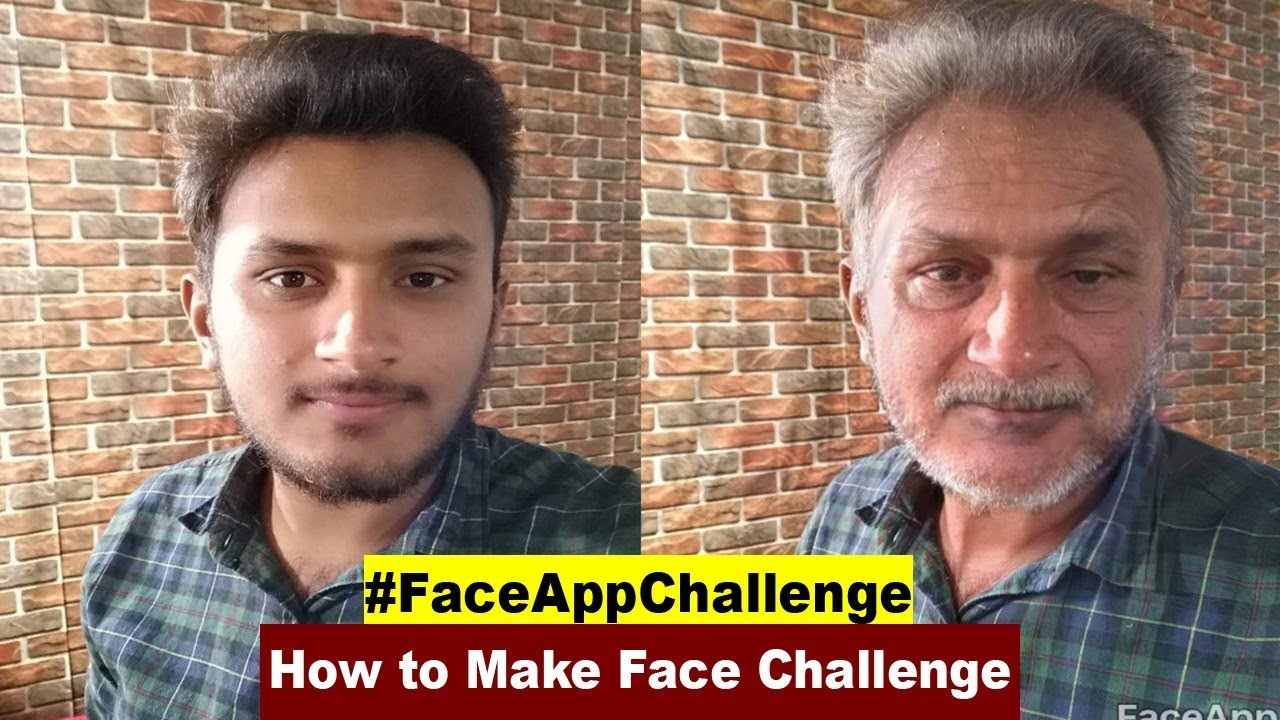 Face App Challenge | How to Make Old Face Challenge