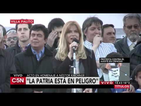 C5N - Homenaje a Nestor Kirchner Habla Magario