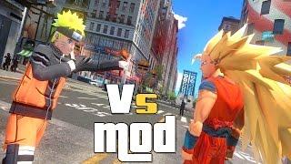 NARUTO VS GOKU SUPER SAIYAN 3 EPIC BATTLE FIGHT MOD for GTA IV