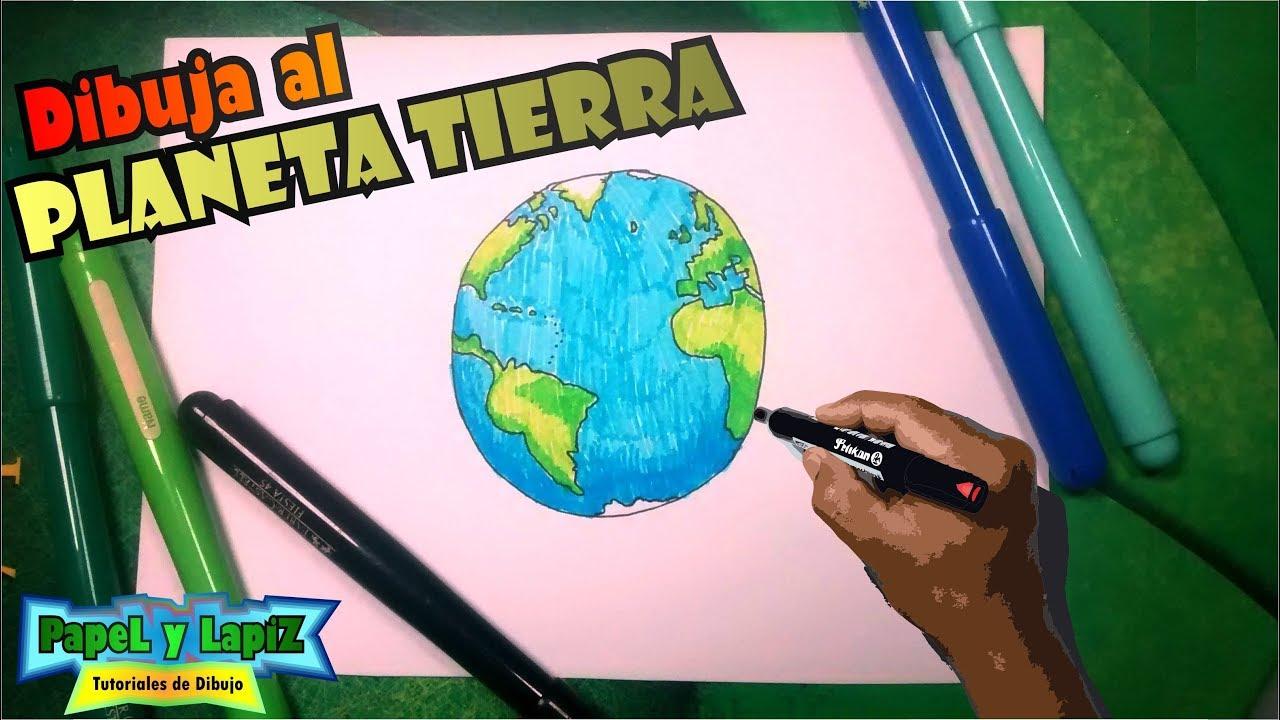 Aprende A Dibujar El Planeta Tierra Con Colores Globo Terraqueo