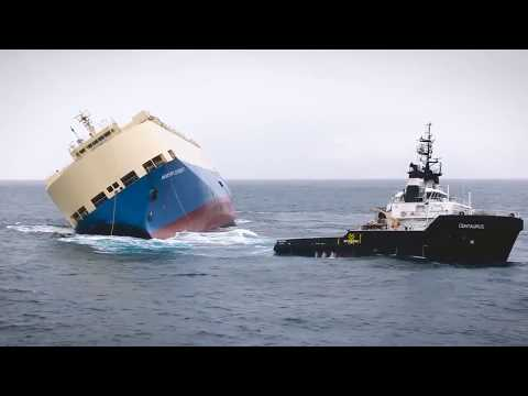 Merchant Marine , Car Carrier Ship lost stability  Heroic Re