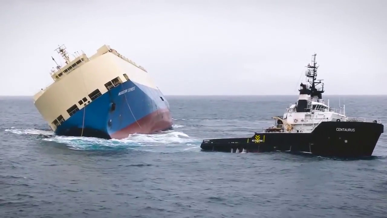 Merchant Marine Car Carrier Ship Lost Stability Heroic Rescue