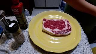 Frozen Rib Eye Steak in Air Fryer