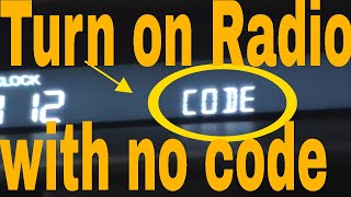 Acura tl radio code instructions / test.