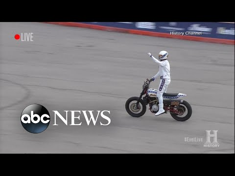 The man behind the Evel Knievel stunt speaks out on 'GMA'