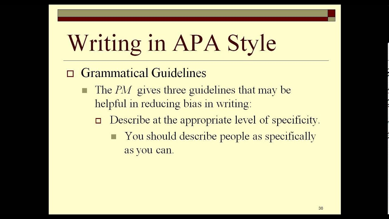 how to write apa style report youtube