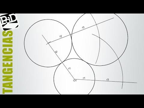 Trazar tres circunferencias tangentes conociendo sus radios.