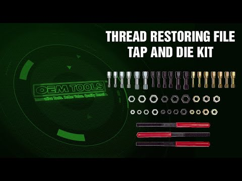 27142 OEM® Thread Restoring File Tap and Die Kit