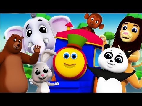 The Animal Sounds Song   Bob The Train Cartoons   Learning Videos For Kids