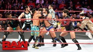 "Rich Swann, Cedric Alexander, Akira Tozawa & Mustafa Ali vs. ""The Zo Train"": Raw, Nov. 20, 2017"