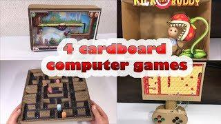 4 cardboard computer games
