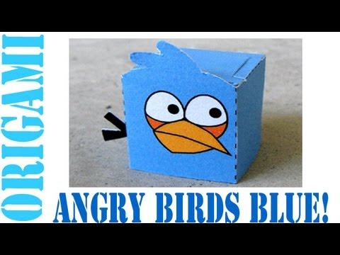 How to Make a Paper Toy Angry Bird (Blue)!