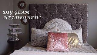 DIY Glam Tufted Headboard!! Dollar tree