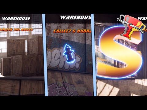 Tony Hawk's Pro Skater 1+2 - All Collectibles in Warehouse (SKATE, Boxes, Hydrants and more)